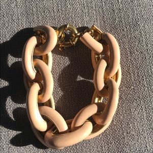 J Crew Nude Link Bracelet